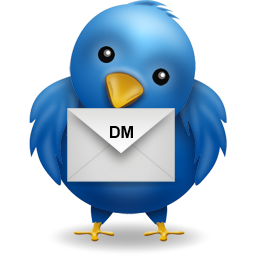 Use Direct Message (DM) in twitter to send messages that are private