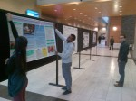 Poster Session set up near booth displays